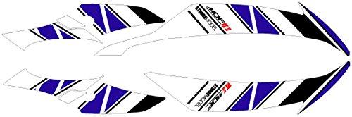 エムディーエフ(MDF) グラフィックキット フロントサイドセット ストロボモデル ブルー 車体色ブラック用 YZF-R6(08-) M08R6-D-BU-FS