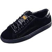 AUCDK Scarpe Donne Sneakers in Pelle scamosciata Tomaia appartamenti casuali Lace up Ladies pattini Degli addestratori Leggero Low Top Sport