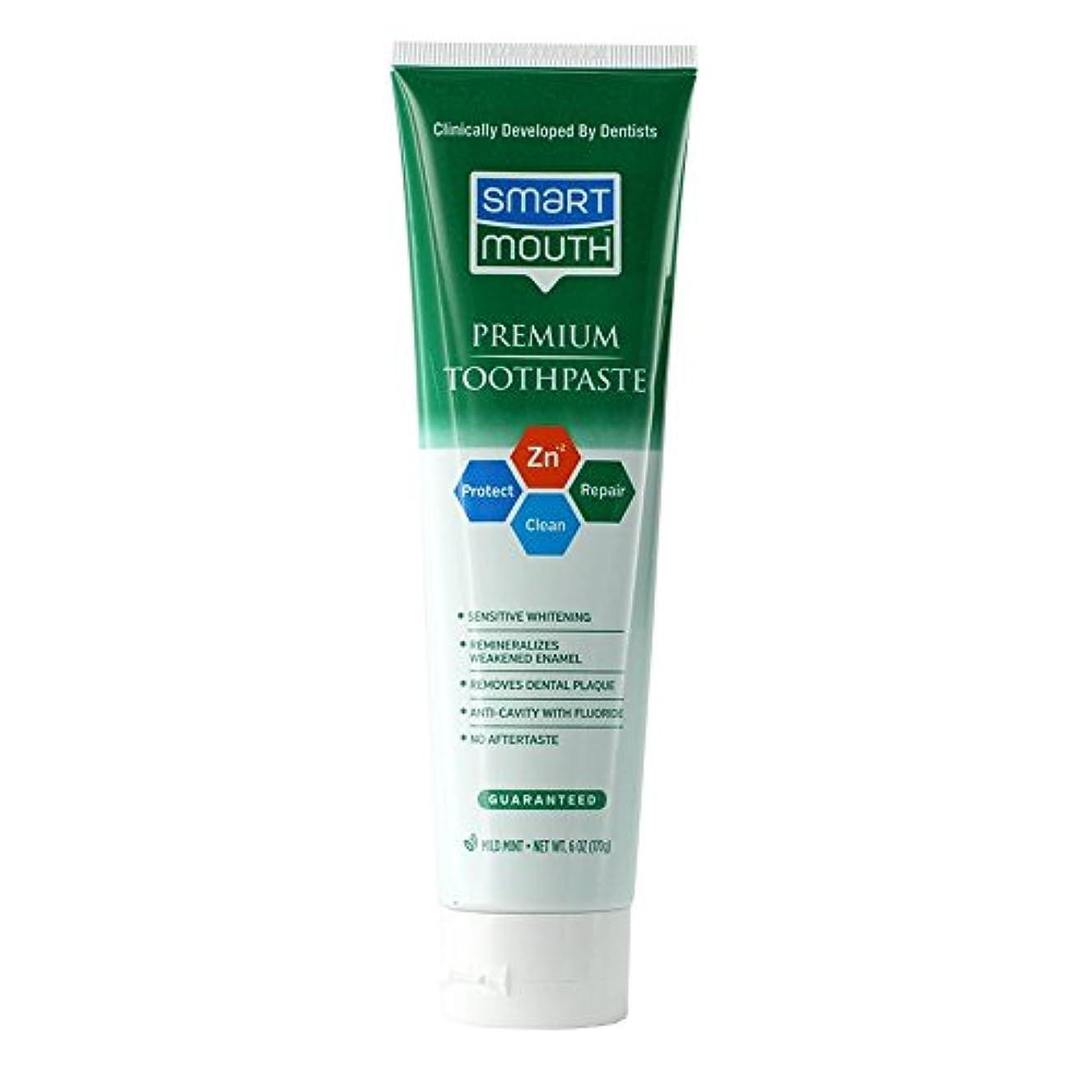 アジア階段ゴネリルSmartMouth フッ化物クリーンミント6オンス歯磨き粉ホワイトニング(1パック)