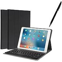 iPad 9.7 キーボードケース 2018/2017/Pro 9.7/Air/Air 2 通用ケース ペンを付き キーボードカバー Bluetooth3.0対応 多角度調整 日本語説明書付着 脱着式 by EBEAUTYDAY