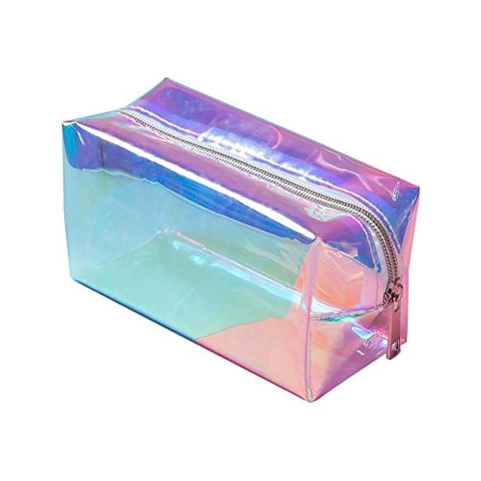 耐えられるオーバーフロー技術的なBSTOPSEL ホログラフィックメイクアップバッグファッション旅行化粧品バッグ大きいトイレタリーバッグメイクアップオーガナイザー