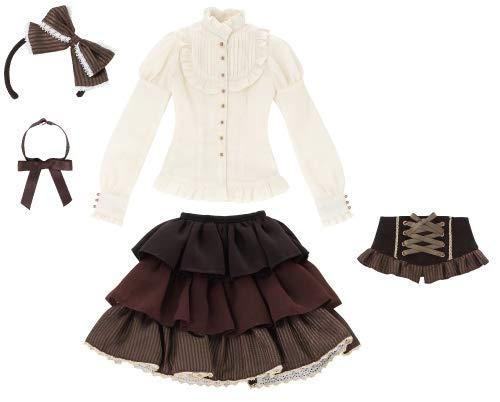 48cm/50cm用 AZO2 サアラズ ア・ラ・モード twinkle☆twinkle ドレスセット ブラウン×アイボリー (ドール用)