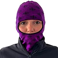 Balaclava Outdoor Wear Hat Cap Unisex New Zealand Made Merino Wool Luxurious Warmth and Soft with a Light Weight Stretchy Face Mask Stylish Unique Moisture Wicking with Thermal Properties Purple