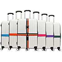 Adjustable Luggage Strap Travel Suitcase Baggage Packing Belt Security Straps with Name Tag Slot