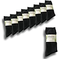 Mens Bamboo Dress Socks - Men's Bamboo Fibre Black Business Socks - 9 Pack Deal