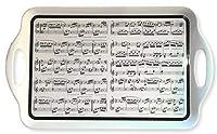 レオナルドコレクション作曲大トレイ、モノクロ、49x30x3cm、LP93674