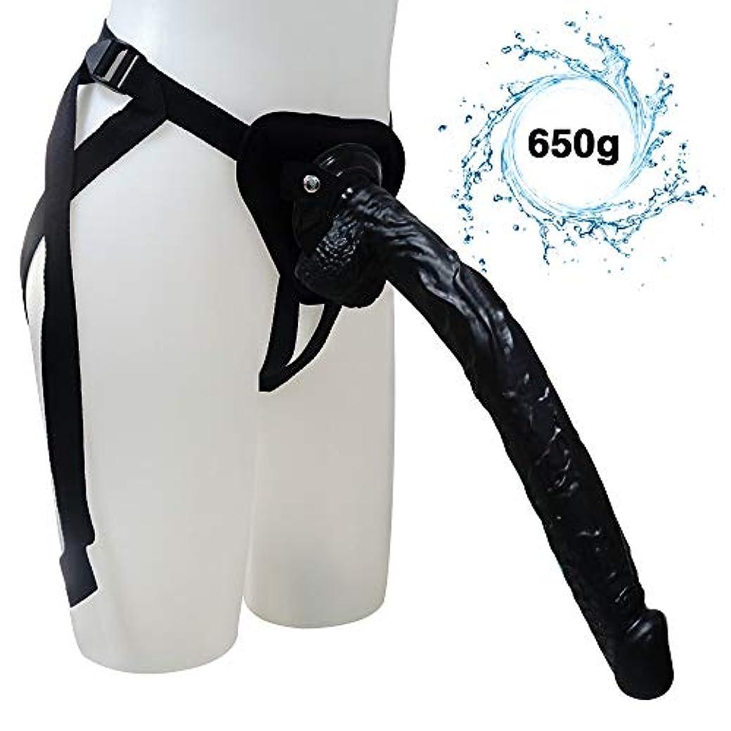 させる差し迫った複合女性の固体代替玩具レディース健康製品PVC素材-ブラック-