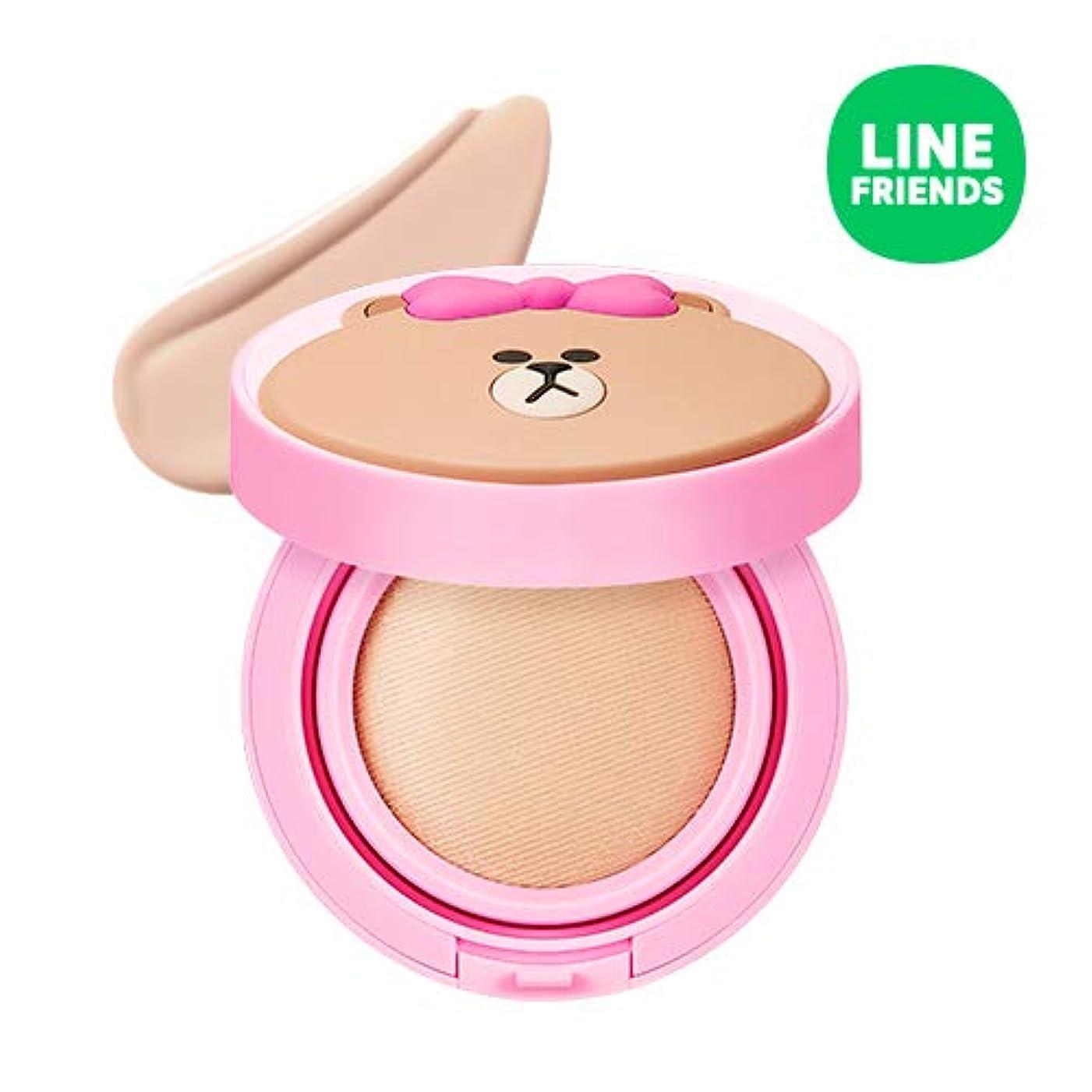 凍結王族ポーズミシャ(ラインフレンズ)グローテンション15g / MISSHA [Line Friends Edition] Glow Tension SPF50 PA+++ #Fair(Pink tone No.21) [並行輸入品]