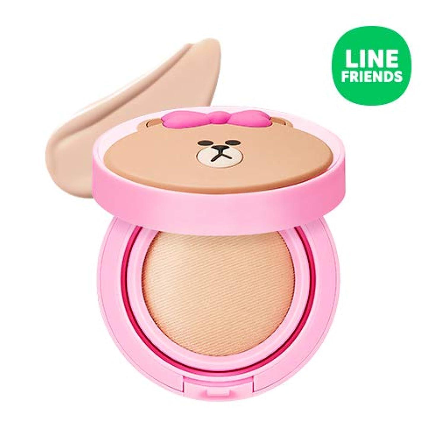 マラソンミンチ月面ミシャ(ラインフレンズ)グローテンション15g / MISSHA [Line Friends Edition] Glow Tension SPF50 PA+++ #Fair(Pink tone No.21) [並行輸入品]