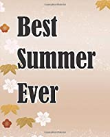 Best Summer Ever: Fall Camping Journal Travel Activity Planner Notebook | RV Logbook Hiking Checklist Keepsake Memories For Kids Boys Girls Adults Family| 8x10 120 Pages White Paper