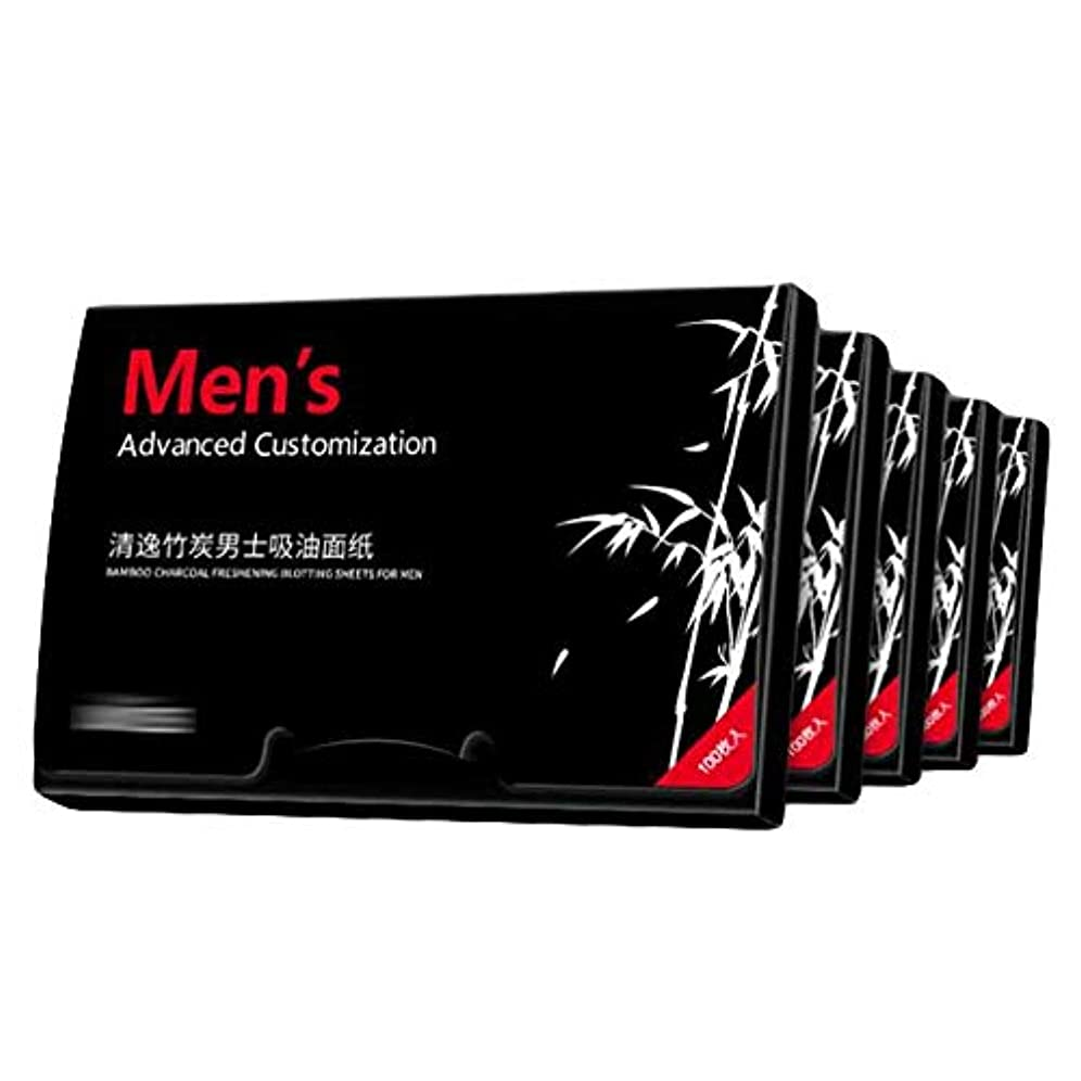 男性竹炭夏吸油紙、500枚