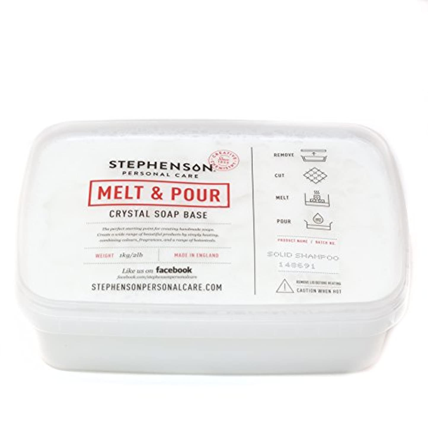遠いうまれた余暇Melt and Pour Soap Base - Solid Shampoo SLS FREE - 1Kg