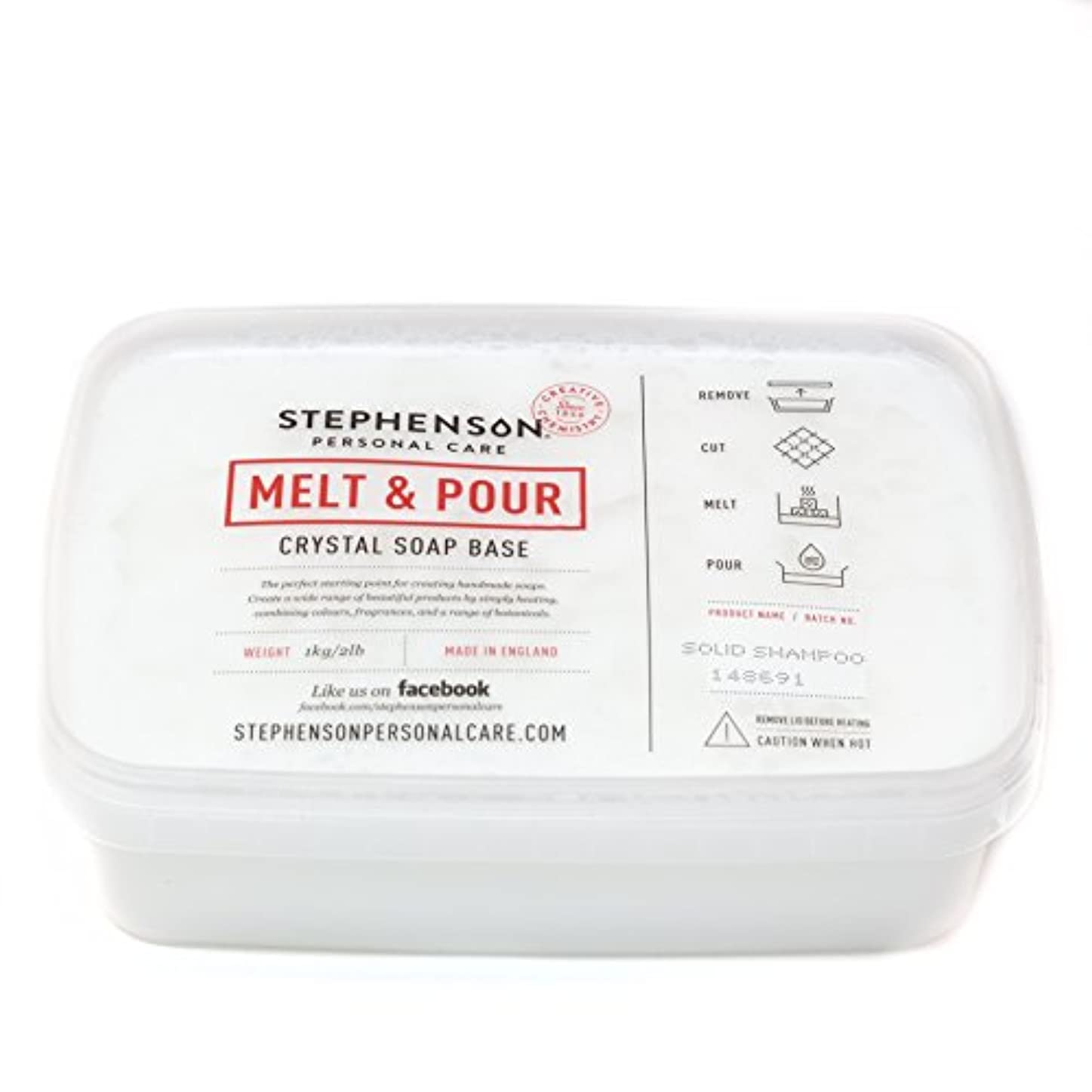 すべき持参グラムMelt and Pour Soap Base - Solid Shampoo SLS FREE - 1Kg