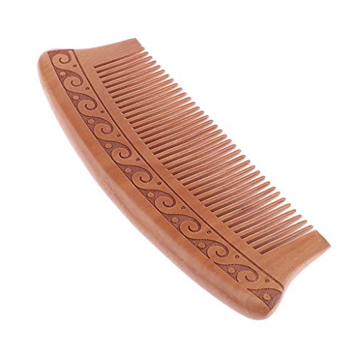 エジプト人発明申し立て木製櫛 コーム ヘアブラシ 静電気防止 エコ ヘアサロン 自宅用 5タイプ選べ - J16d