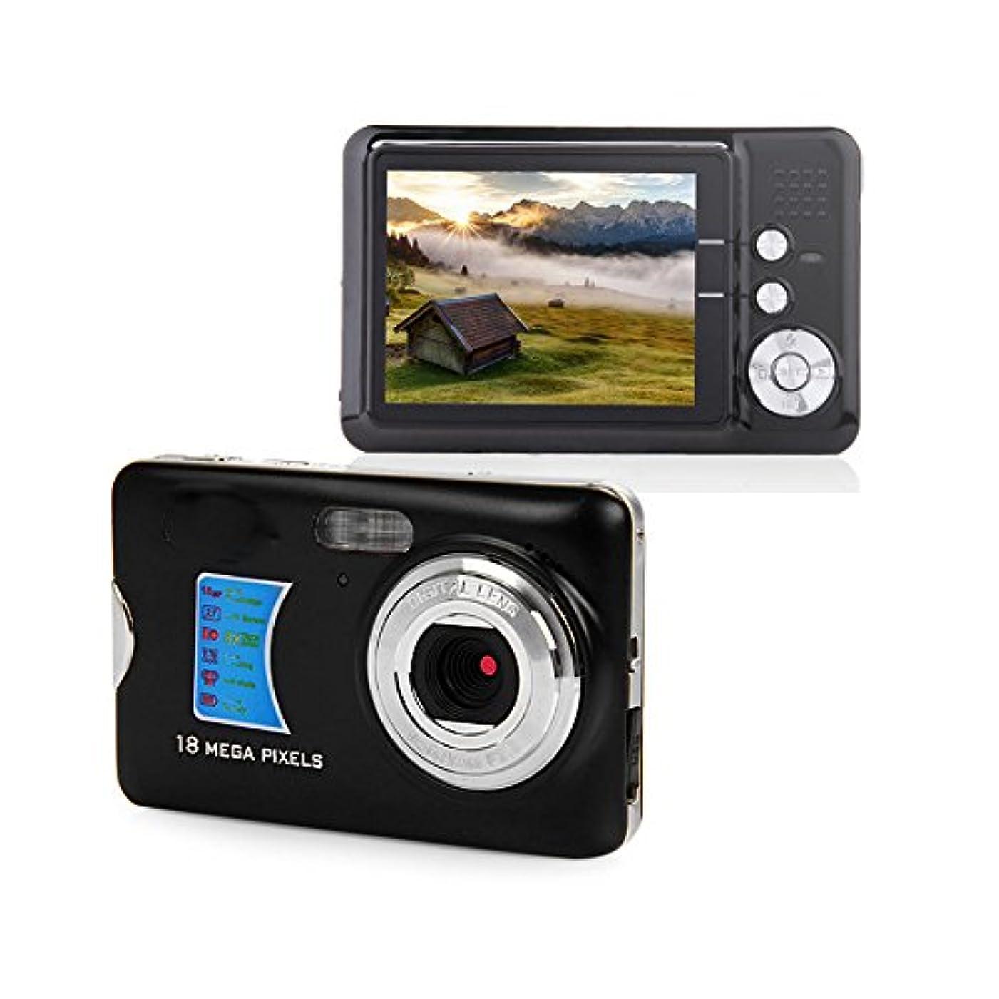 日ぐるぐる害虫Powpro PP-CDFE デジタルカメラ 2.7インチ TFT 液晶ディスプレイ HD ブラック 4332019538