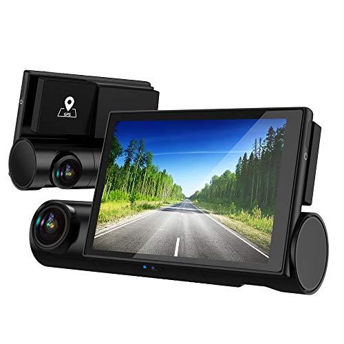 AKEEYO ドライブレコーダー 前後カメラ 車内外同時録画 ドラレコ 車内カメラ フルHD 1080P STARVIS搭載 暗視対応 GPS搭載 Gセンサー WDR 常時録画 ループ録画 全国信号機対応 3インチOLED液晶 32GB MicroSDカード付き 日本語説明書 一年間品質保証 AKY-D7