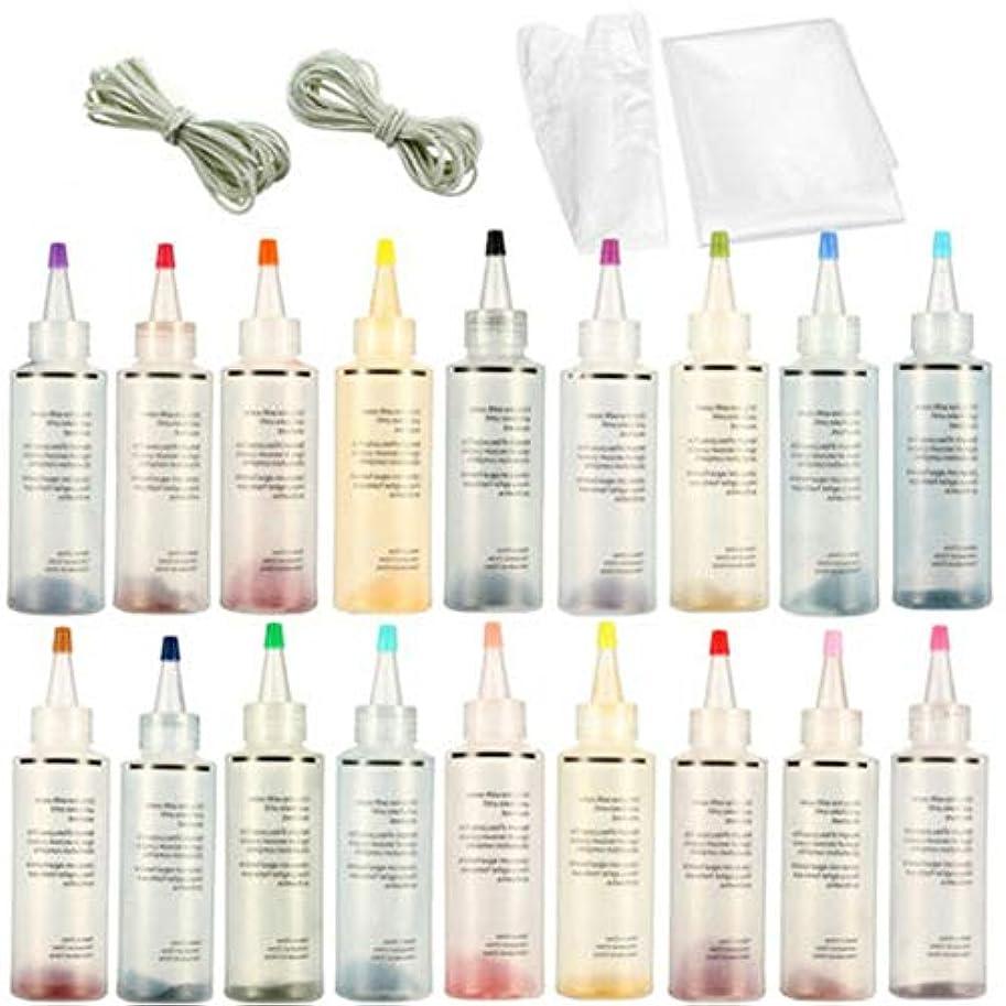 波指標セミナーカラフルな染料、ワンステップタイダイチューリップの活気に満ちた生地のテキスタイル、手作りの石鹸、スライム、工芸用の白いゴムバンドと使い捨て手袋