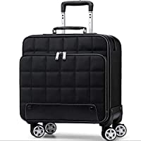 """IhDFR Carry on Luggage,Trolley case- Women's Mini Oxford Brass Box 16"""", Universal Wheel Business Suitcase Male 18/20"""" (Color : Brown, Size : 18in) (Color : Black, Size : 20in)"""