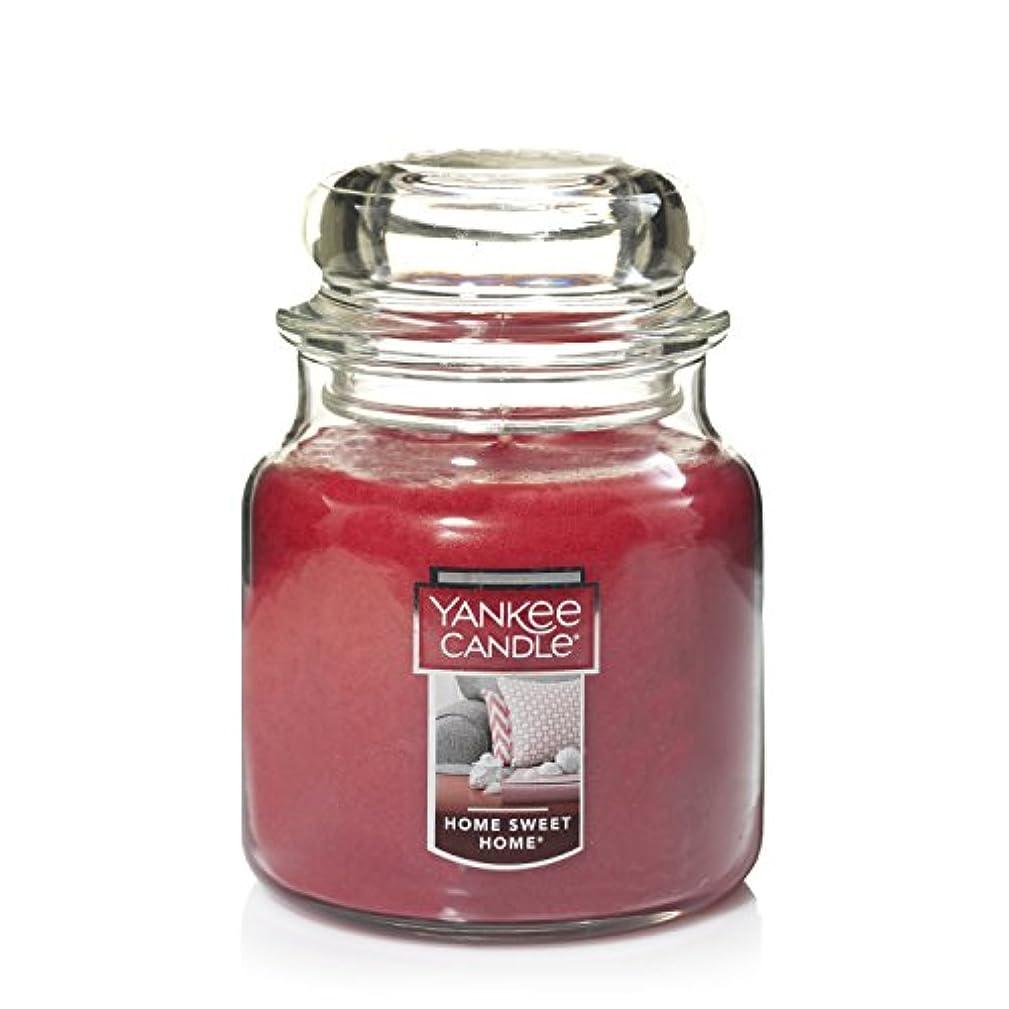 起きて嫉妬ズームインするYankee Candle Home Sweet Home Medium Jar 14.5oz Candle One レッド 11497-YC
