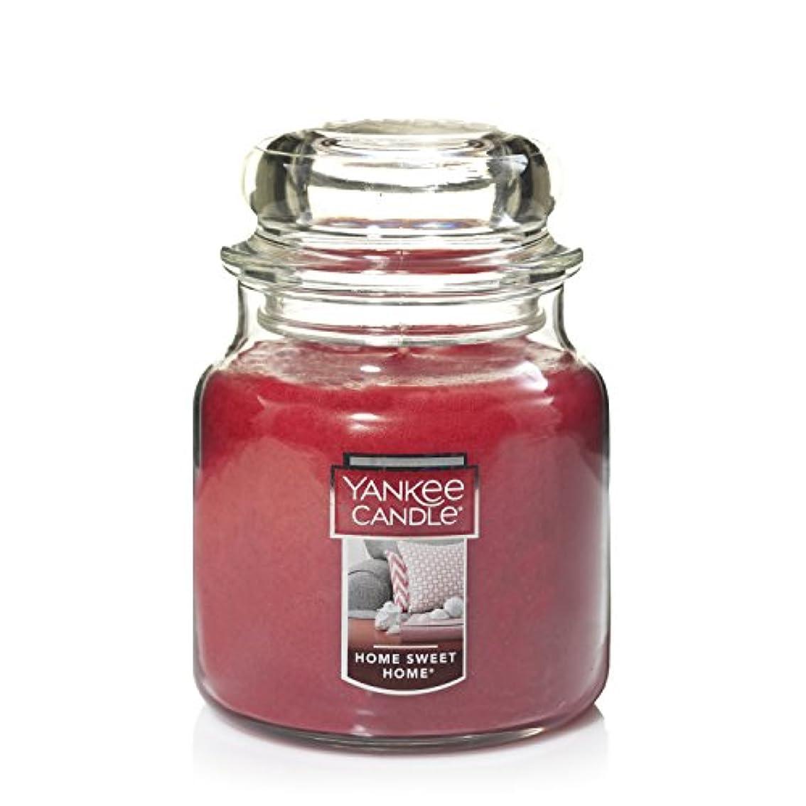 ほめる取る贅沢Yankee Candle Home Sweet Home Medium Jar 14.5oz Candle One レッド 11497-YC