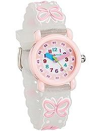 [チックタック] TICKTOCK キッズ腕時計 クオーツ アナログ表示 子供 ガールズ ウォッチ (B) 子供の日 入学 通学 入園 通園 新学期 誕生日 お祝い プレゼント (蝶々ーホワイト) … [並行輸入品]
