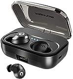 ワイヤレスイヤホン Bluetooth Pasonomi True ワイヤレス Bluetooth 5.0 ヘッドフォン Hi-Fi サウンド Bluetooth ヘッドセット デュアルマイク ワイヤレスイヤホン IPX7 防水 2200mAH 充電ケース付き