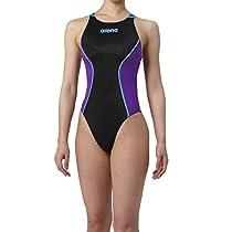 arena(アリーナ) トレーニング 競泳用 水着 レディース リミック クロスバック ARN-7021WN ブラック × パープル × Dブルー L