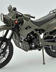 リトルアーモリー 1/12 彩色済み完成品バイクモデル LM001 陸自偵察オートバイ KLX250