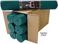 Bean製品ボックスof 6–Yogi TealプレミアムHiグリップマットヨガの、ピラティス、ジャンプ–Non Toxic天然ゴムと地球に優しい樹脂ブレンド–シカゴ–Our 30th Year