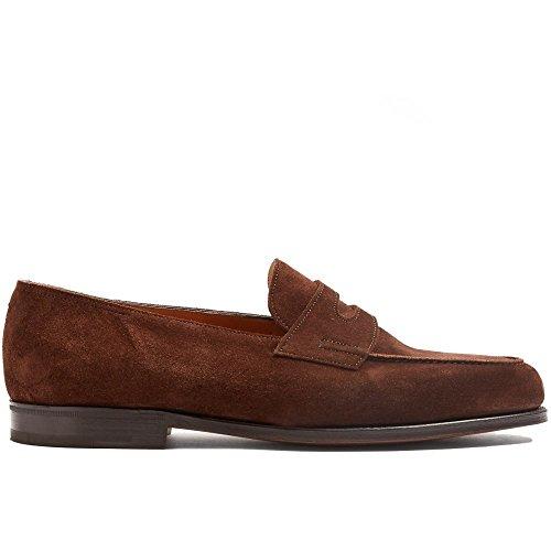 (ジョンロブ) John Lobb メンズ シューズ・靴 ローファー Lopez suede penny loafers [並行輸入品]