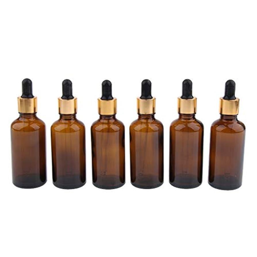協同軽減強風IPOTCH 6本 遮光ビン 精油瓶 香水瓶 空ボトル スポイト ガラス 詰め替え マルチ容量 - 50ml