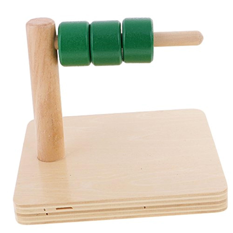 F Fityle 知育玩具 木製 子供 積み木 形状学習 木製スティック 円柱パッペルダイアル
