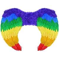 Girls Rainbow Foldable Fairy Tale Angel Wings Womens Medium 60x40 Cm Stag Hen Night Fancy Accessory