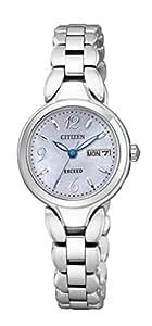 [シチズン]CITIZEN 腕時計 EXCEED エクシード チタニウムコレクション デイ&デイト 白蝶貝文字板 エコ・ドライブ時計  EW3240-57A レディース