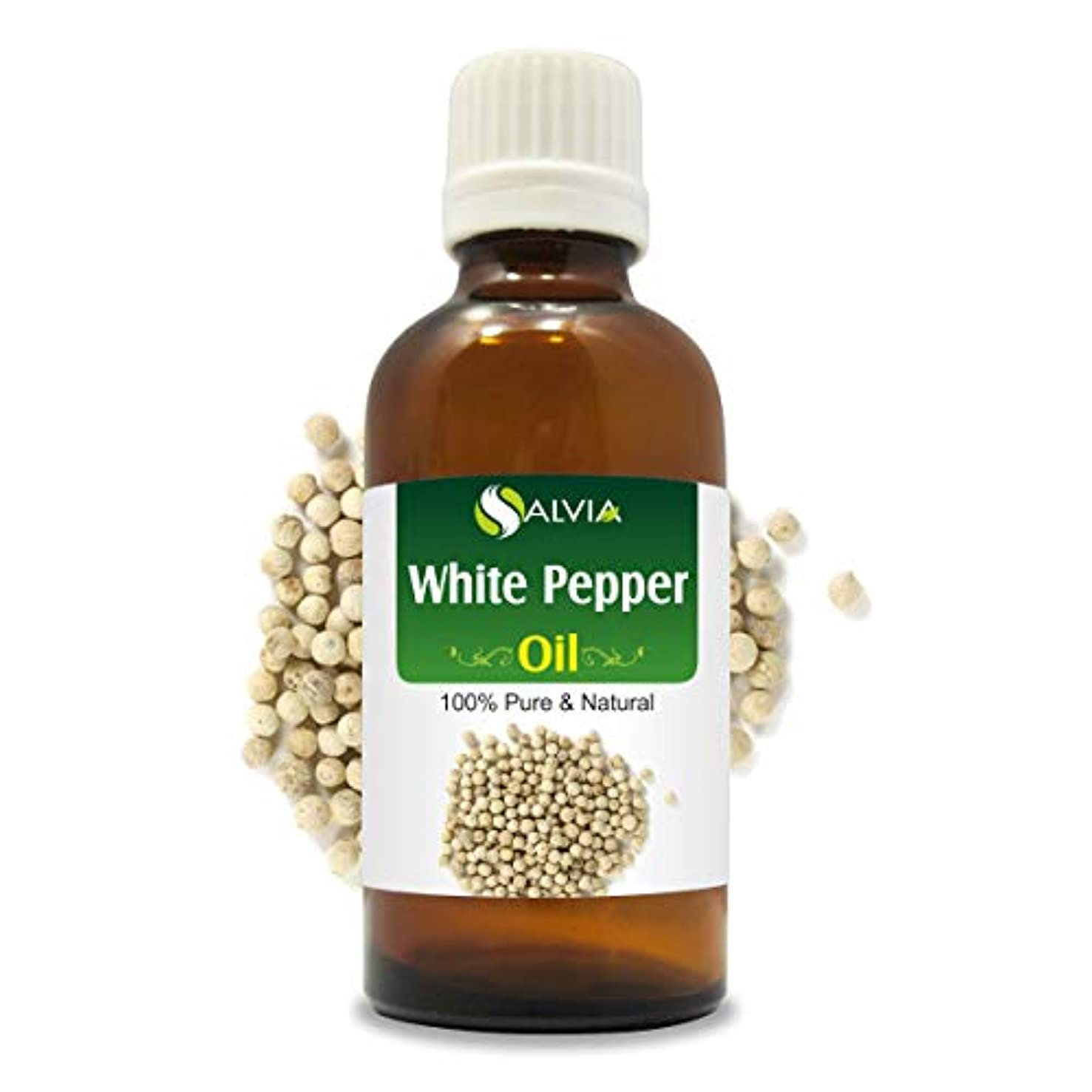 ホールドワーム投げ捨てるWhite Pepper Oil (Piper Nigrum) 100% Natural Pure Undiluted Uncut Essential Oil 50ml