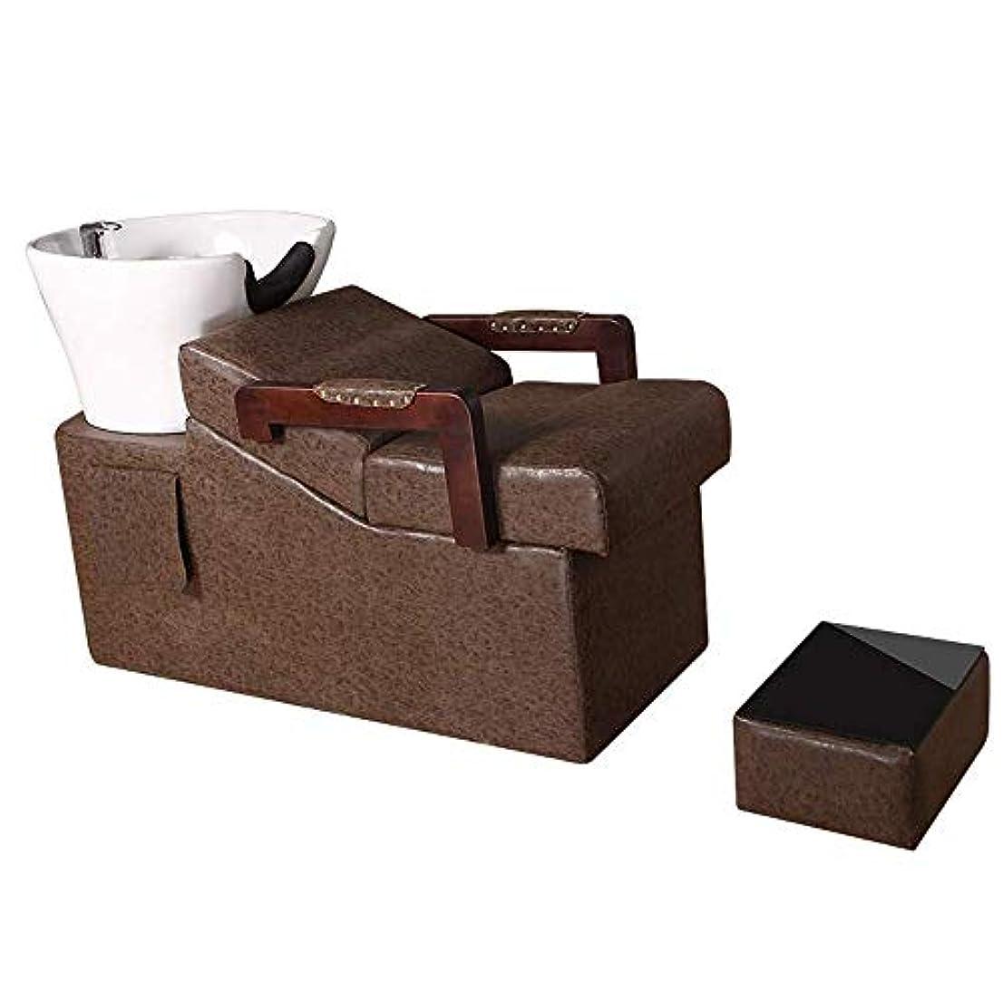 サスペンドモール精算シャンプーバーバー逆洗椅子、スパビューティーサロン装置特殊シャンプーベッドのための逆洗ユニットシャンプーボウル理髪シンクチェア