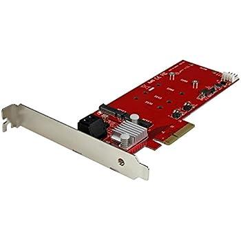 StarTech.com 2x M.2 NGFF SSD RAID コントローラカード(SATA 3.0 2ポート) 2スロットPCI Express M.2 RAIDカード PEXM2SAT3422