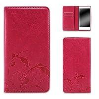 whitenuts Galaxy S9 SC-02K ケース 手帳型 ベルトなし エンボスデザイン ピンク/鈴蘭 スマホケース ギャラクシー エスナイン 手帳 カバー 全機種対応 WN-OD427581_MX
