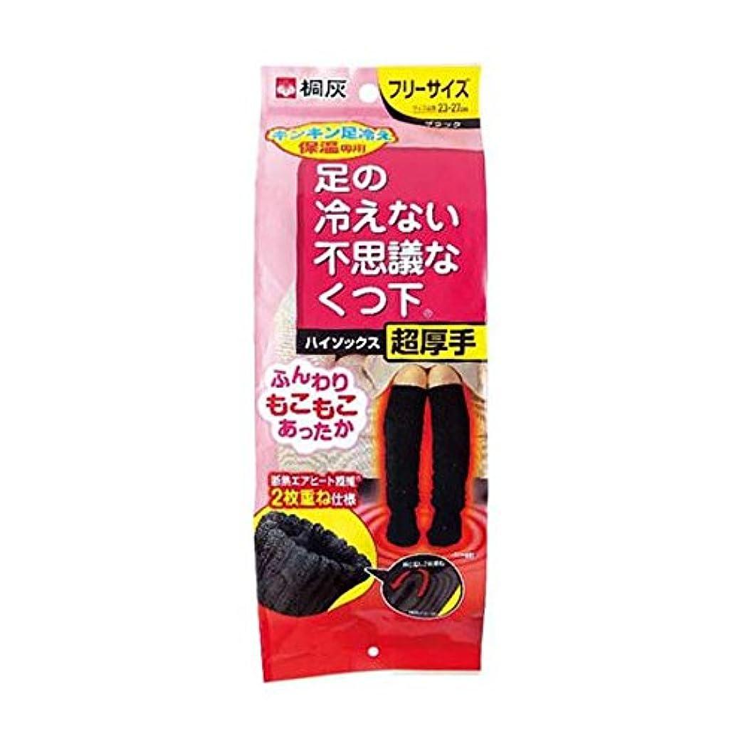 覚えている余計な言い聞かせる【まとめ買い】桐灰化学 足の冷えない不思議なくつ下 ハイソックス 超厚手 キンキン足冷え保温専用 フリーサイズ 黒色 1足分(2個入) ×2個セット
