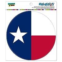 テキサス州 State 旗 - サークル MAG-格好いい'S(TM)カー/冷蔵庫マグネット