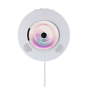 AGPtEK ECI-ILIFE CDプレーヤー 壁掛け式 スピーカー リモコン付き FM/CD/bluetooth/SDモード(ホワイト)