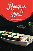 """Recipes & Notes Blank Cookbook: Blank Recipe Journal to Write in for Women, Food Cookbook Design, Document all Your Special Recipes and Notes for Your Favorite ... for Women, Wife, Mom 6"""" x 9""""  I Love Desserts Blank Cookbook Recipes & Notes"""