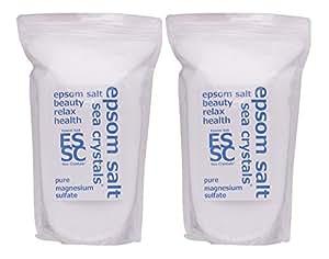 シークリスタルス 国産 エプソムソルト (硫酸マグネシウム) 入浴剤 4.4㎏ (2.2kgX2) 浴用化粧品 計量スプーン付 無香料