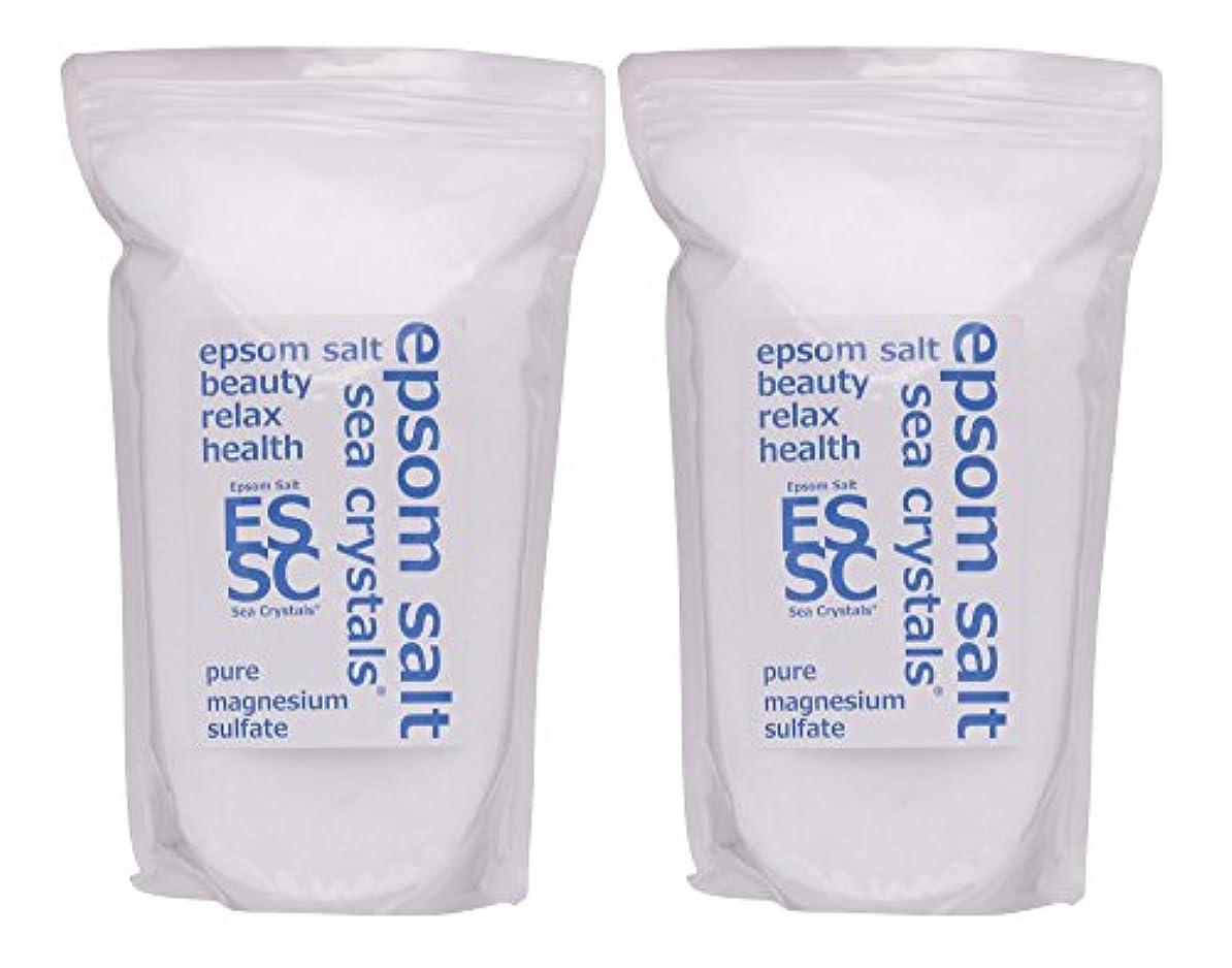 申請者財産探すシークリスタルス 国産 エプソムソルト (硫酸マグネシウム) 入浴剤 4.4㎏ (2.2kgX2) 浴用化粧品 計量スプーン付 無香料