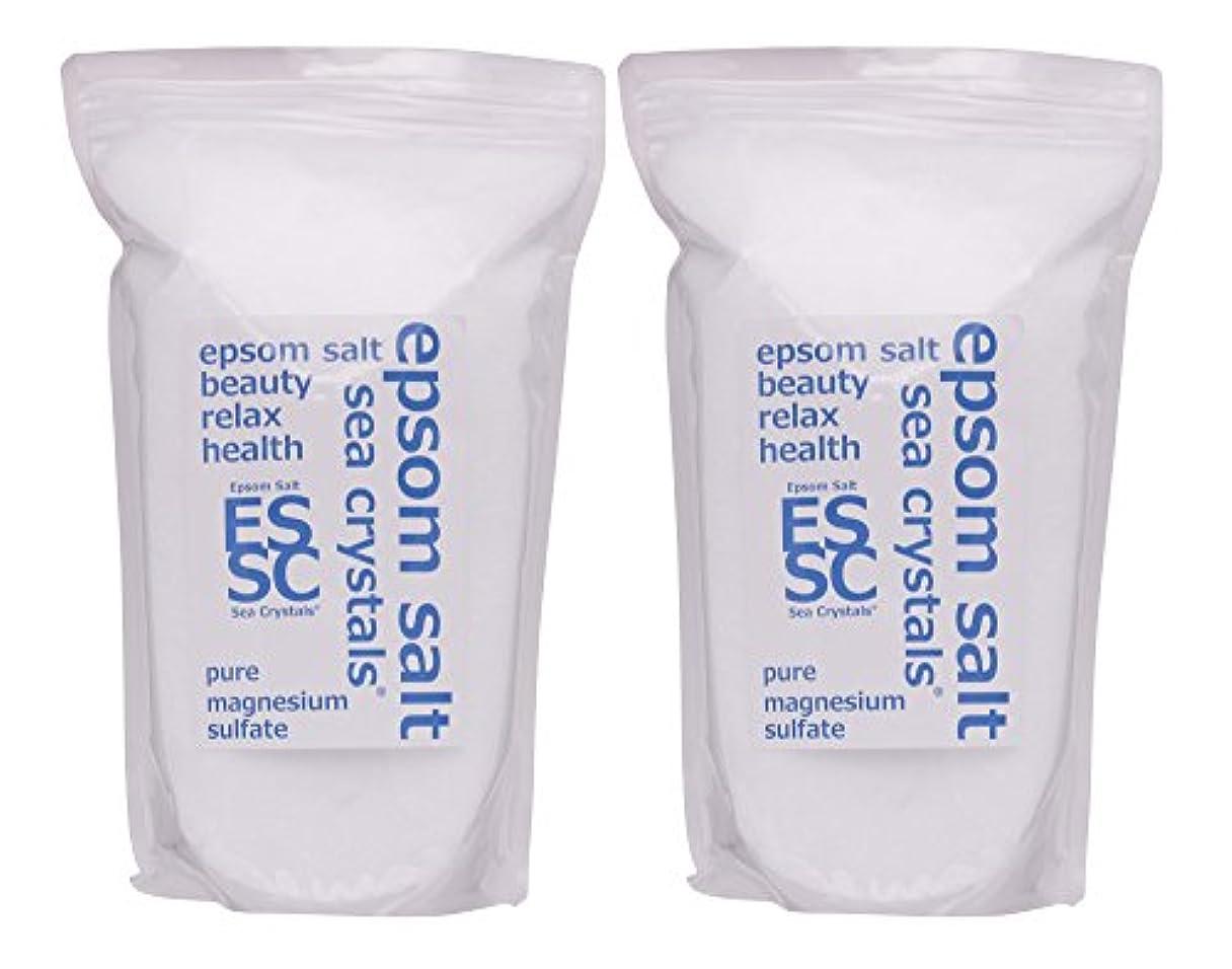 策定するこれら高層ビルシークリスタルス (Sea Crystals) シークリスタルス 国産 エプソムソルト (硫酸マグネシウム) 入浴剤 浴用化粧品 計量スプーン付 無香料 単品 8㎏(4kgX2)
