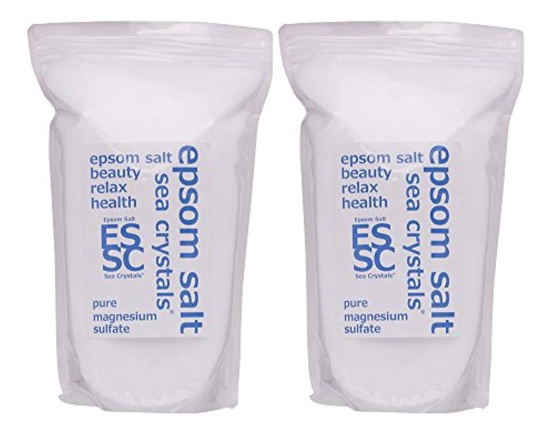 囲いミニチュア良心シークリスタルス 国産 エプソムソルト (硫酸マグネシウム) 入浴剤 8㎏ (4kgX2) 浴用化粧品 計量スプーン付 無香料