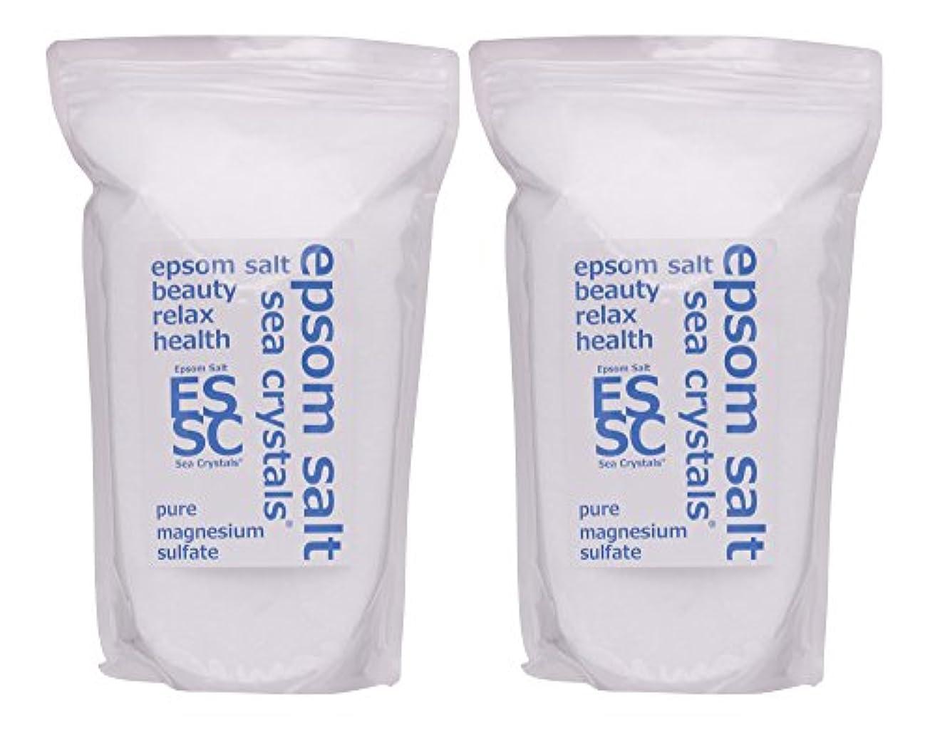 苦行フロント擬人化シークリスタルス 国産 エプソムソルト (硫酸マグネシウム) 入浴剤 4.4㎏ (2.2kgX2) 浴用化粧品 計量スプーン付 無香料