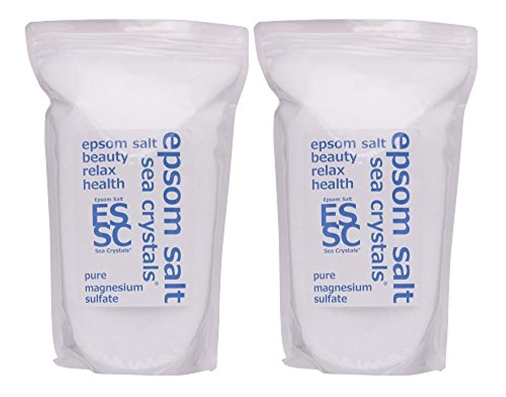 サワー哲学的ショートカットシークリスタルス 国産 エプソムソルト (硫酸マグネシウム) 入浴剤 4.4㎏ (2.2kgX2) 浴用化粧品 計量スプーン付 無香料
