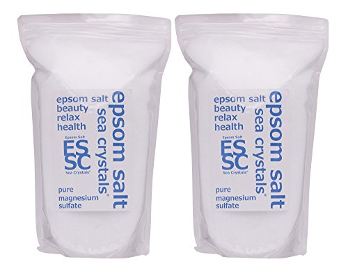 シークリスタルス 国産 エプソムソルト (硫酸マグネシウム) 入浴剤 8㎏ (4kgX2) 浴用化粧品 計量スプーン付