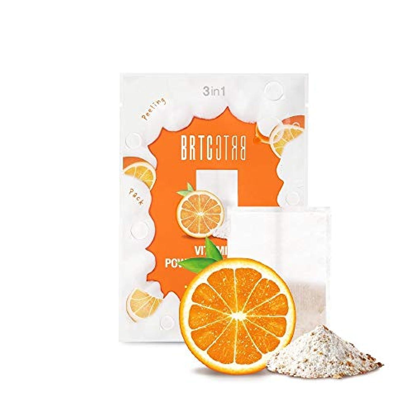 メロン省に変わるBRTC V10ビタミンパウダークレンジングティーバッグ V10 Vitamin Powder Cleansing Tea Bag [MANDARIN&ORANGE] 1.5g * 15ea [並行輸入品]